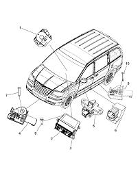 2010 dodge grand caravan air bag modules impact sensors clock spring diagram i2236357