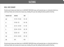 Flex Liner Sizing Chart Need Help With Bell Moto 9 Flex Sizing Moto Related