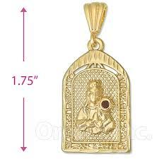oro tex gold layered st barbara charm