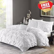 ruched bedding set king size bed white duvet cover u0026 shams 4 piece twist king size duvet b84