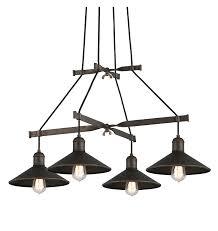 troy lighting interior industrial mccoy 4lt chandelier medium vintage bronze