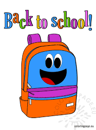 Small Picture Back to School Backpack Coloring Page