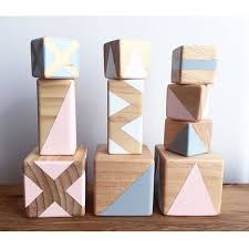 <b>Wooden blocks</b> by Gold Rabbit and Co | Cubos de madera ...