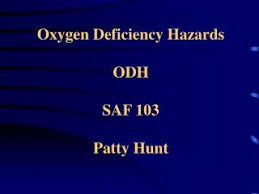 PPT - Oxygen Deficiency Hazards ODH SAF 103 Patty Hunt PowerPoint  Presentation - ID:6264603