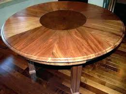 round dining table that expands wood