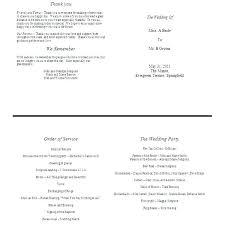 Wedding Reception Program Templates Wedding Ceremony Itinerary Template