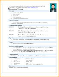Engineering Resume Format In Ms Word Professional Resume Templates