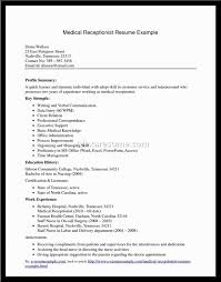 Medical Receptionist Resume Template Beauteous Cover Letter Resumes For Receptionists Sample Resumes For