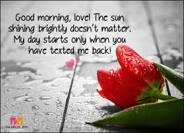 Good Morning Sms Quotes Best of 24 Good Morning Love SMS To Brighten Your Love's Day