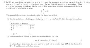 Method Of Statement New Solved 44 In 44b You Proved That The Statement P R A