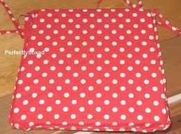 seat chair pad cushion red polka dot spot retro kitchen garden