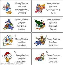 21 Personalised Disney Christmas Labels Gift Tags Stickers Self Adhesive Ebay