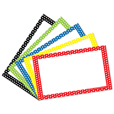 3x5 Cards 3x5 Polka Dot Asst Index Cards Blank