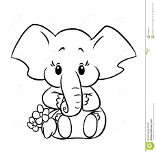 Small Picture Coloring Page Cute Elephant Coloring Pages Coloring Page and