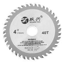 effetool 4 inch 40 teeth circular saw blade acrylic plastic woodworking cutting blade cod