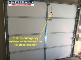 emergency release garage door opener
