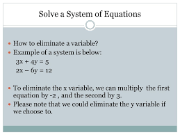 2 solve by using the elimination method