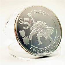 Ankylosaurus <b>Silver</b> Sierra Leone Dinosaur Commemorative <b>Coins</b> ...