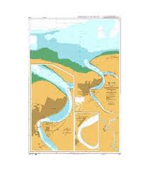British Admiralty Nautical Chart 2765 Suriname River Entrance To Toevlucht