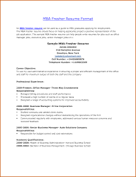 Best Resume Format For Mba Freshers Resume For Your Job Application