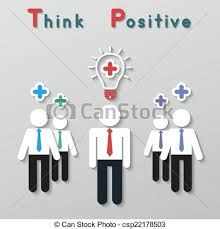 vector clipart of positive thinking teamwork business concept vector positive thinking teamwork business concept
