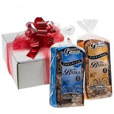 this fresh kosher certified gift box es with one loaf each of green s famous mini chocolate and cinnamon babka consider sending our cinnamon and