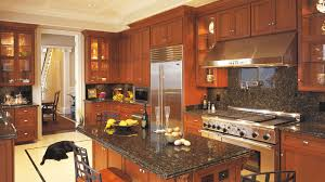 remarkable kitchen lighting ideas black refrigerator. Cherry Kitchen Cabinets For Temporary Design Ideas With And Black Granite Countertop Plus Stainless Steel Refrigerator Remarkable Lighting O