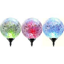 Glass That Changes Color In Light Moonrays 35 In Solar Powered Integrated Led Color Changing Glass Globe Pathway Stake Light 3 Pack