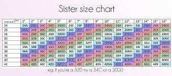 Bra Size Chart Google Search Bra Size Charts Sister
