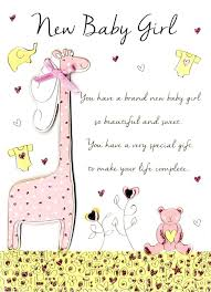 New Baby Girl Congratulations Greeting Card Cards
