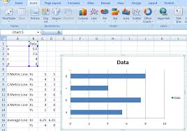 Step By Step Horizontal Bar Chart With Vertical Lines