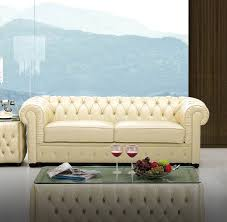 Ivory Living Room Furniture 258 Living Room Set Ivory Leather Sofa Loveseat And Chair D2d