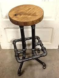 diy industrial pipe bar stools stool with round top projects to try