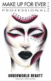 Stunning Halloween Face Charts From Make Up For Ever Girls
