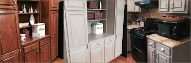 chalk painting kitchen cabinets. Kitchen Cabinet Makeover With Chalk Paint® Greenville, SC | Vintage Now Modern Painting Cabinets