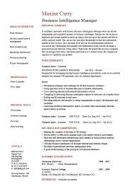 Business Intelligence Manager resume 1, example, BI, online job search,  board, site, courses, CV