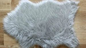 faux fur rug sheepskin silver straight intended for fake rugs renovation hot pink