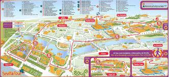 seville tourist map  seville spain • mappery