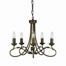 Antik 6 Gotica Kronleuchter Gold 5xe14 Lampe Rustikal ø47cm