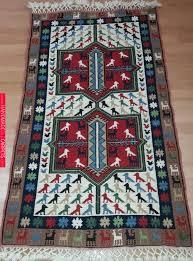 turkish rug wool rug 2 62 x 4 56 ft 80 x 139 cm area rug