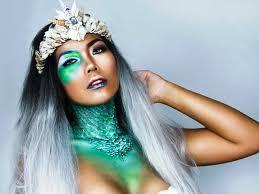 queen of the sea halloween makeup tutorial