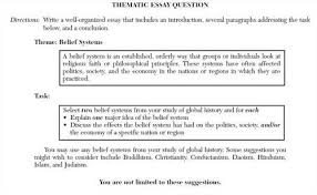 society and culture association belief systems thematic essay