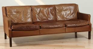 saddle leather sofa by brge mogensen at 1stdibs