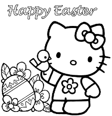 Small Picture Hello Kitty Happy Easter Coloring Pages Easter Colorings
