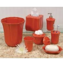Skyros Designs Royale Persimmon Coral Ceramic Bath Accessories
