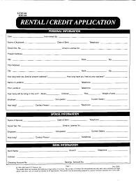 Rental Credit Application Fillable Online Rental Credit Application Fax Email Print