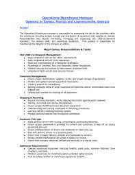 general warehouse worker resume sample stibera resumes