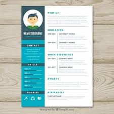 Graphic Designer Cv Template Vector Free Download Intended For