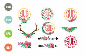You must come directly to our site out of the app in order to download. Flower Monogram Svg Example Image 1 Monogram Svg Floral Monogram Flower Svg Files