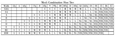 Allen Edmonds Width Size Chart Allen Edmonds Shoe Trees
